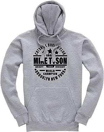 Iron Mike Tyson Catskill Boxing Club Premium Men's Grey Hoodie/Hoody/Hooded Top