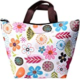 eBoot Lunch Bag Tote Insulated Cooler Carry Bag (Colorful Flower)