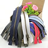 takestop® SET 8 PEZZI CERNIERA rame 22,5 CM CHIUSURA LAMPO IN nylon ZIP ZIPPER COLORATE colore casuale