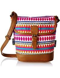 Kanvas Katha Women's Sling Bag (Multicolor) (KKRJQ040)