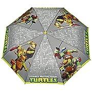 Ombrello bambino Tartarughe Ninja Perletti - Ombrello bambino pieghevole leggero e resistente - Manuale - Diametro cm 89