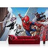 Fototapete 254x184cm PREMIUM Wand Foto Tapete Wand Bild Papiertapete - Marvel - SPIDERMAN Tapete Marvel Spiderman Cartoon bunt - no. 3376