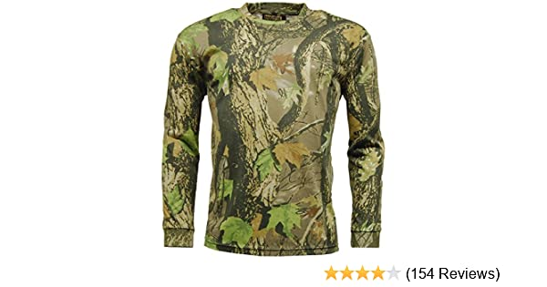 Camo Hunting Top Game Woodland 5XL Camouflage Long Sleeve T Shirt S