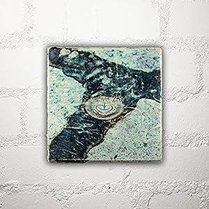 Hamburg auf Holz - *Astra* - 10x10 cm - Holzbild, Wandbild, Landhausstil, Shabby Chic, Vintage, Bilder, Motive, Hamburg, Geschenkidee, Souvenir, Deko