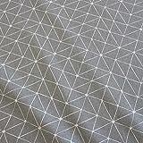 Stoff Meterware Baumwolle Origami Grafik grau weiß Linien Japan pflegeleicht