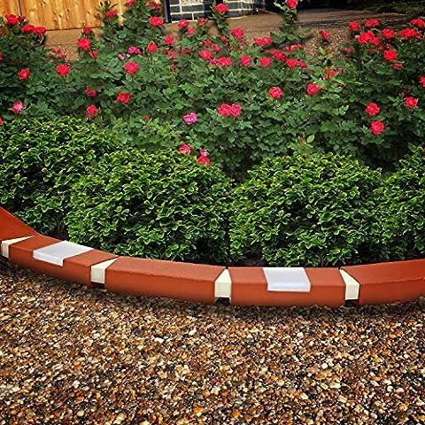 Parkland® 10Stück Kunststoff Brick Effekt Garten Rasenkante Pflanze Bordüre Landschaft mit (Brick Rasenkanten)
