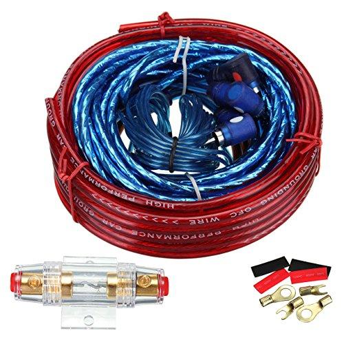 Lautsprecher-installation (Ambiente 1500W Car Audio Draht Verkabelung Verstärker Subwoofer Lautsprecher Installation Kit 8GA Stromkabel 60AMP Sicherungshalter)