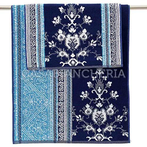 Bassetti coppia asciugamani di spugna granfoulard maiori-blu