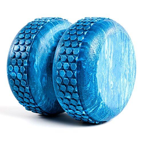 Power Systems 80675 Myo-Roller, strukturierte Massagetherapie zur Genesung, myofasziale Freigabe und Wirbelsäulenausrichtung, 15,2 x 15,2 cm, Blau Marmor