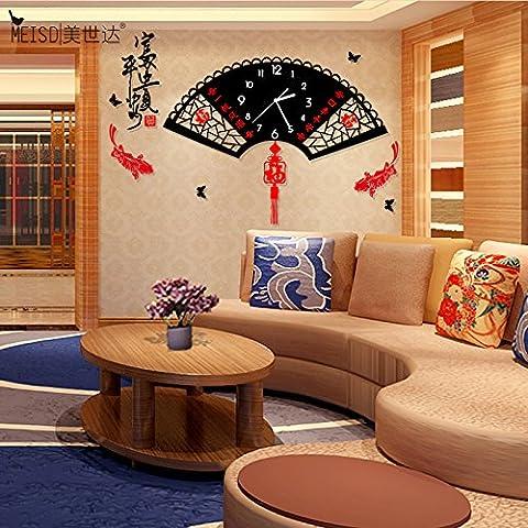 NLLPJMF Creative semplice soggiorno arte orologio da parete a parete digitale orologio 16 pollici , grande notte di luce, di pace e di prosperità.