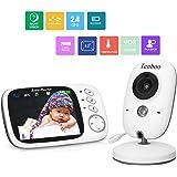 """Babyphone mit Kamera video babyphone Baby Monitor mit 3.2"""" TFT LCD Bildschirm Nachtsichtkamera und Temperaturüberwachung"""