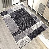 Carpeto Teppich Modern Geometrische Muster Trend Meliert in Grau, Schwarz - ÖKO Tex (250 x 350 cm)