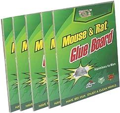 AbhiAbhii Heavy Gum Mouse Insect Rodent Lizard Trap Rat Catcher Adhesive Sticky Glue Pad Non Poisonous (22cm*17cm*5cm)- Set of 5