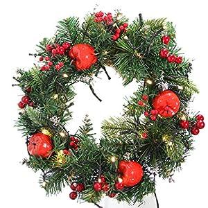 VOSAREA 1Pc Christmas Wreaths Luminous