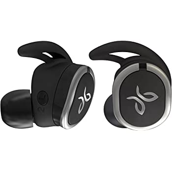 Jaybird RUN Wireless Headphones for Running, Bluetooth 4.1, Omni-Directional Mic, 4+8 Hours of Battery, Sweat-Resistant, Comfort-Fitted Earpieces, Skip-Free Music, Jet Black