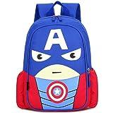 Mochila Spiderman Mochilas Infantiles Bolsa Escuela Mochila para Niños de Libro de Jardín de Infantes Ajustables Mochila de L