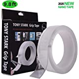 TONY STARK ® 3 Meter Double Sided Adhesive Silicon Tape  Transparent Adhesive Heavy Duty   Heat Resistant   Multi…