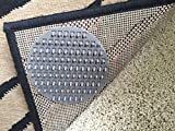 Non-Slip Rug Pads For RUG-ON-CARPET ANTI-SLIP. DESIGNED FOR USE ON MEDIUM PILE CARPET. 8 Pack. Intended To Limit Medium/Large Sized Rugs From Moving On Top Of CARPET. BRAND NEW DESIGN!