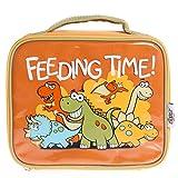 Bugzz Borsa Porta Pranzo per Bambini, Arancione (Dinosauri)