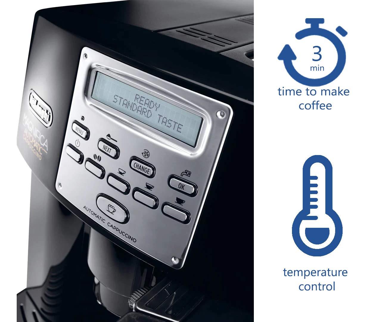 DeLonghi-ESAM-3550-Kaffee-Vollautomat-Magnifica-18L-15-bar-integriertes-Milchsystem-schwarz