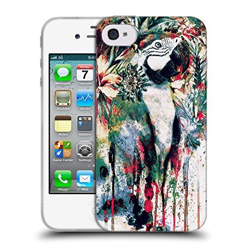 Ufficiale Riza Peker Gufo Animali Cover Morbida In Gel Per Apple iPhone 6 / 6s Pappagallo