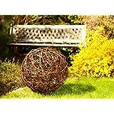 Floranica® Palla in vimini Palla decorativa in vimini Sfera in vimini Sfera in salice Decorazione giardino in 5 grandezze diverse, Diametro:20cm