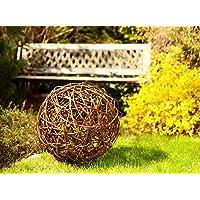 Floranica® Palla in vimini Palla decorativa in vimini Sfera in vimini Sfera in salice Decorazione giardino in 5 grandezze diverse, Diametro:60cm