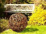 Floranica® Boule décorative - au bois de saule Boule en osier Boule en sarment de vigne Décoration de jardin en 5 tailles différentes , Diamètre:60cm
