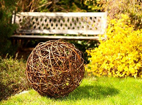 Floranica Weidenkugel Dekokugel aus Weide Weidenball Rebenkugel Gartendeko in 5 verschiedene Größen, Durchmesser:20cm
