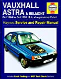 Vauxhall Astra and Belmont Service and Repair Manual