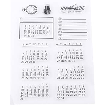 Trasparente Silicone Sigillo Timbro per Scrapbooking Foto Album Decorativo Calendario Bambini Natale Divertimento Decorazione Forniture