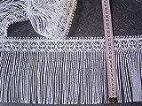 Fransenborte Gardinen Spitze weiß 14cm hoch