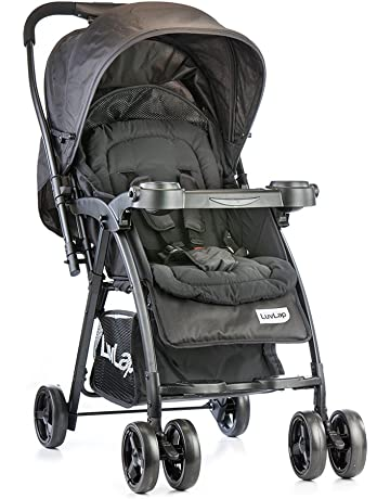 LuvLap Joy Stroller/Pram, Compact and Easy Fold, for Newborn Baby/Kids, 0-3 Years (Black)