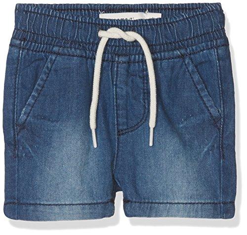 NAME IT Baby - Jungen Shorts NBMRYAN DNMABEN 3051 Long, Grau Dark Blue Denim, 80