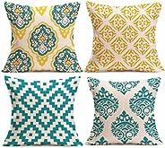 "18"" 4PC Pillow Cases Linen cotton Sofa Cushion Cover Home Decor,Hand Made,Tusco"