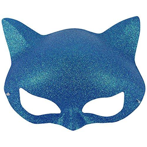 Halloween Cat Eye Faschings Maske Katzenmaske - Blau (Katze Maske Halloween)