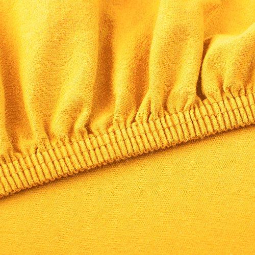 CelinaTex Lucina Spannbettlaken 180×200 – 200×200 mais gelb Jersey Baumwolle Spannbetttuch Doppelbett Matratzen 0002813 - 3