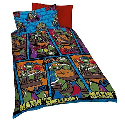 Teenage Ninja Turtle Einzelbetten (Wende-Bettwäsche mit Teenage Mutant Ninja Turtles Motiv, für Einzelbetten (Einzelbett) (Bunt))