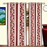Dreaming Cotton Door Curtains 7ft Maroon