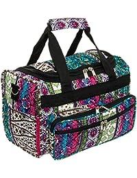"Gen SH 13"" Boho Print Carry On Travel Duffle Bag W/Black Trim"