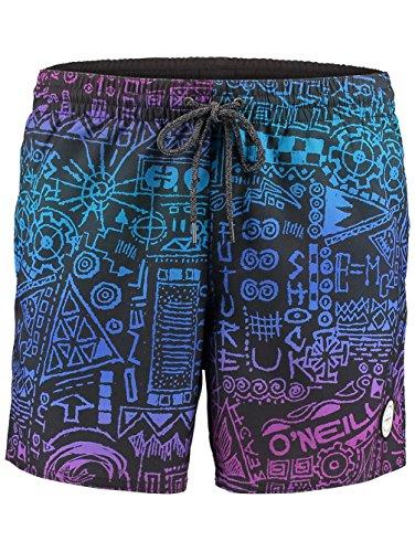O 'Neill Thirst for Surf Pantalones Cortos Bañador para hombre, hombre, Thirst for surf shorts, Black Aop