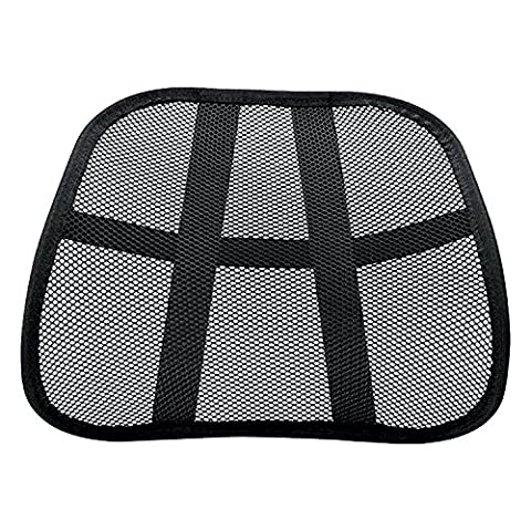Vinsani Super Comfort Mesh Lumbar Back Seat Sit Support System Pain Relief for Office Chair Seat with Elasticated Positioning