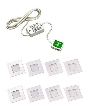 Luce LED Square Plinth Light Lights With Driver Cool White - Kitchen plinth lights square