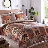 Safari Mottoparty Terracotta & Braun, Bettbezug und 2Kissenbezügen Betten Bettwäsche-Set