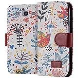 ECENCE Samsung Galaxy S3 i9300 S3 Neo i9301 Cartera Flip Case Wallet Cover bolsa funda ave 23030204