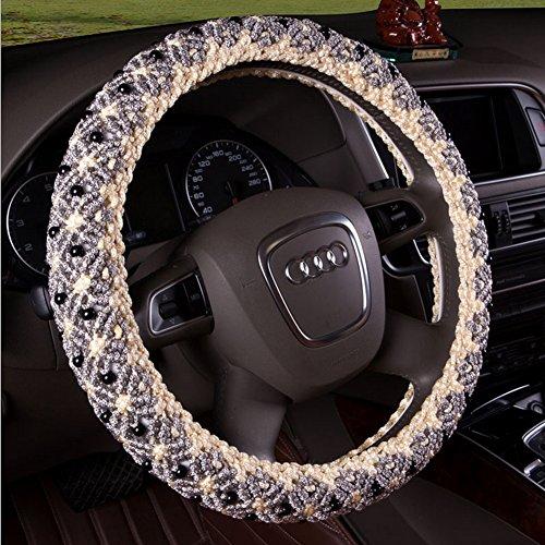 b-y-main-perles-glace-automotive-housse-de-volant-en-soie-avec-38cm-381cm-diamtre-gris-gris