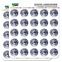 Planet Earth from Space 2.5cm (1 inch) Scrapbooking Crafting Stickers