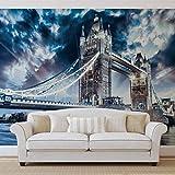 Stadt London Tower Bridge - Forwall - Fototapete - Tapete - Fotomural - Mural Wandbild - (847WM) - XXL - 312cm x 219cm - VLIES (EasyInstall) - 3 Pieces