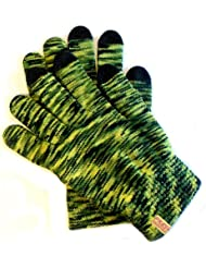 PRESKIN guantes para pantallas tactiles, con función smartphon, touch screen para iPhone 4G, iPad, smartphone, teléfono móvil, tablet PC, Amazon Kindle, Kindle Fire, Blackberry, Samsung Galaxy, HTC, touchpad, Asus, Moto, Nokia, GPS, Sony Ericcsson, LG... (1 verde negro)