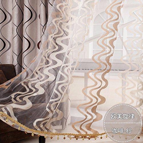 Tende cortina d'aria europea ombreggiatura finito europeo melody panno arte salotto terrazza cortina,d,250 x 270 cm (w x h) x 2,